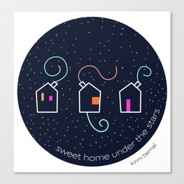 Sweet home under the stars Canvas Print