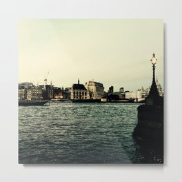 London Stories - Golden London Metal Print