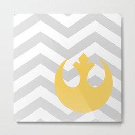 Rebel Alliance Chevrons Mustard Metal Print