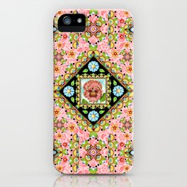 Cottage Pink Pansy iPhone Case