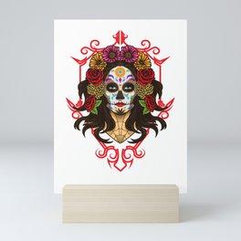 Santa Muerte - La Calavera Catrina - Sugar Skull Mini Art Print