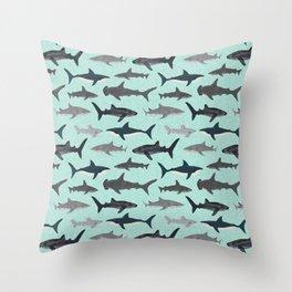 Sharks nature animal illustration texture print marine biologist sea life ocean Andrea Lauren Deko-Kissen