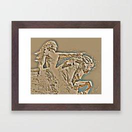 Bative American Crazy Horse Rendering Framed Art Print