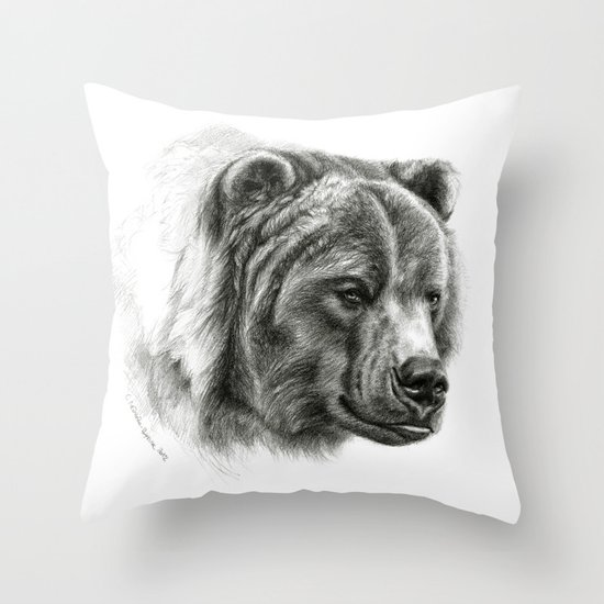 Brown Bear G2012-054b  Throw Pillow