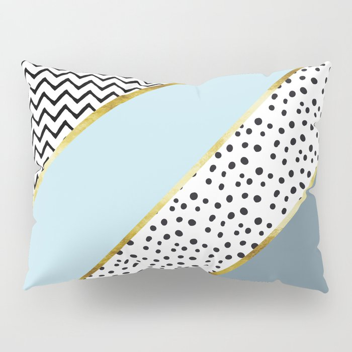 Happy Abstract | blue Pillow Sham