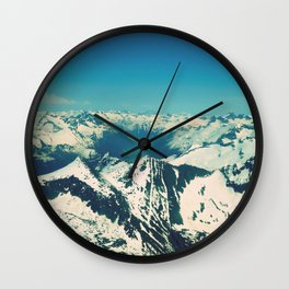 Mountain Peaks | Photography Wall Clock