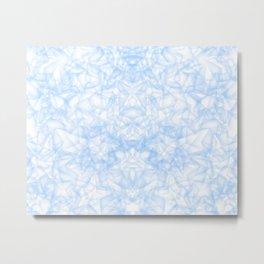 Blue Abstract Stars Metal Print