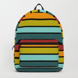 Multicolored Stripes: Rainbow Colors Backpack