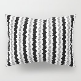 Black White and Silver Vertical Jiggle Pillow Sham