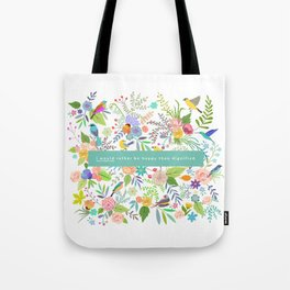 Jane Eyre - I Would Rather Be Happy Than Dignified Tote Bag