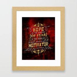 Hope in the shadow Framed Art Print