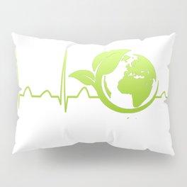 Ecologist Heartbeat Pillow Sham