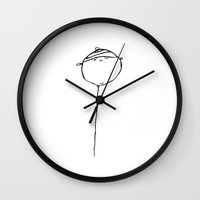 baloon Wall Clocks featuring baloon by Valentina Cobetto