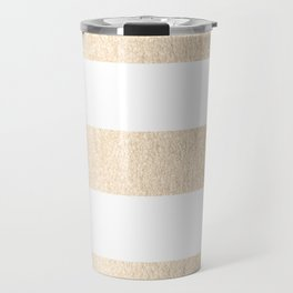 Simply Striped in White Gold Sands Travel Mug