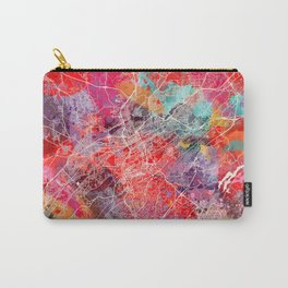 Birmingham map Alabama painting 2 Carry-All Pouch