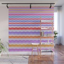Warm Bright Bubbly Boho Color Study Stripes Print Wall Mural