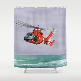 DOLPHIN RESCUE Shower Curtain