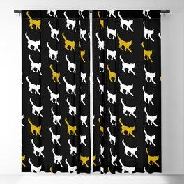 Cat Walking Blackout Curtain