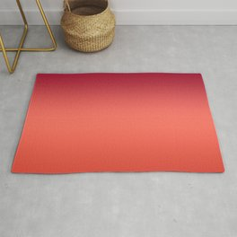 Living Coral Fiesta Jester Red Gradient Ombre Pattern Rug