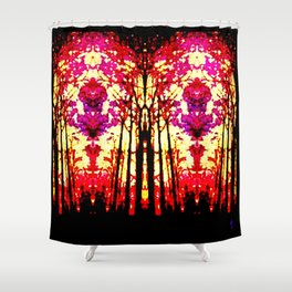 Sunset Stain Glass Shower Curtain