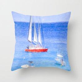 Barbados Sketch Art Throw Pillow