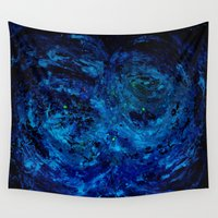 outer space Wall Tapestries featuring Give  Outer Space by Candy Circles