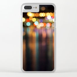 Bokeh City Night Lights Clear iPhone Case