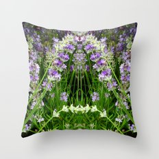The Lavender Arch Throw Pillow