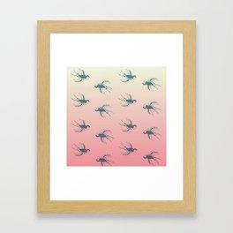 A little bird told me... Framed Art Print