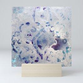 Southwest Gray & Purple Scrollwork Print Design Mini Art Print