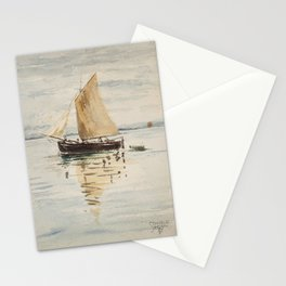 "Egon Schiele ""Segelschiff mit Spiegelungen (Sailing ship with reflection)"" Stationery Cards"