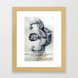 Arnold the ecologist Framed Art Print