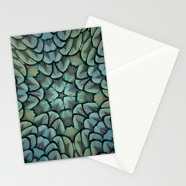 Classic Peacock Feather Kaleidoscope  Stationery Cards
