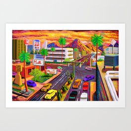 Camelback Road Sunset Phoenix Arizona Art Print