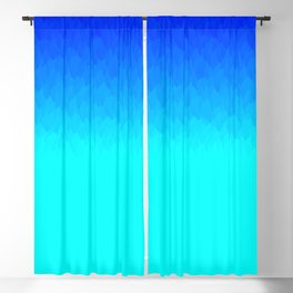 Electric Blue Ombre flames / Light Blue to Dark Blue Blackout Curtain