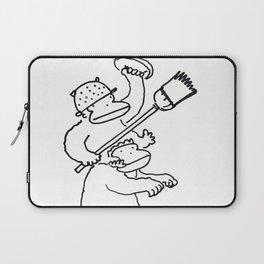 Quixotic Apes Tilt at Ceiling Fan Laptop Sleeve