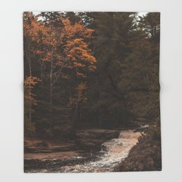 Tahquamenon Falls II Throw Blanket