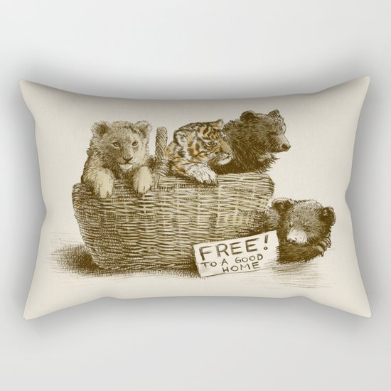 Lions and Tigers and Bears Rectangular Pillow