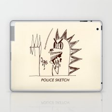 Aberdeen - dinosaur police sketch Laptop & iPad Skin
