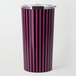 Festival Fuchsia and Black Stripes Travel Mug