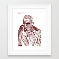 actor Framed Art Prints featuring 1898 Stage actor by seb mcnulty