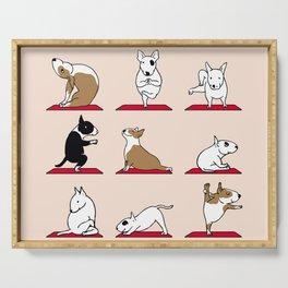 Bull Terrier Yoga Serving Tray
