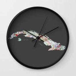 Cuba map Wall Clock