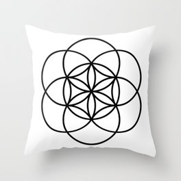 Seed of life Throw Pillow