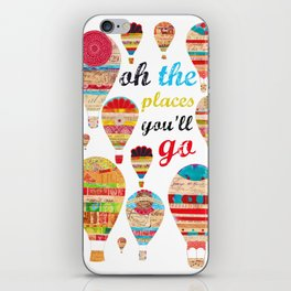 Oh The Places You'll Go, Print iPhone Skin