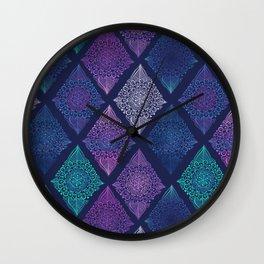 Night Glow Diamonds Wall Clock