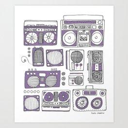 Boom Boxes Art Print
