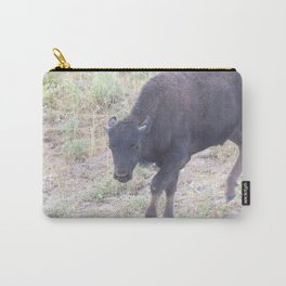 Watercolor Bison Calf 13, Yellowstone, WY Carry-All Pouch
