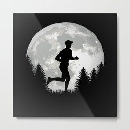 Running Runner Shirt For Runners Metal Print