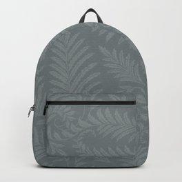 Fancy Leaves Scroll Damask Night Watch Pewter Green Pattern Backpack